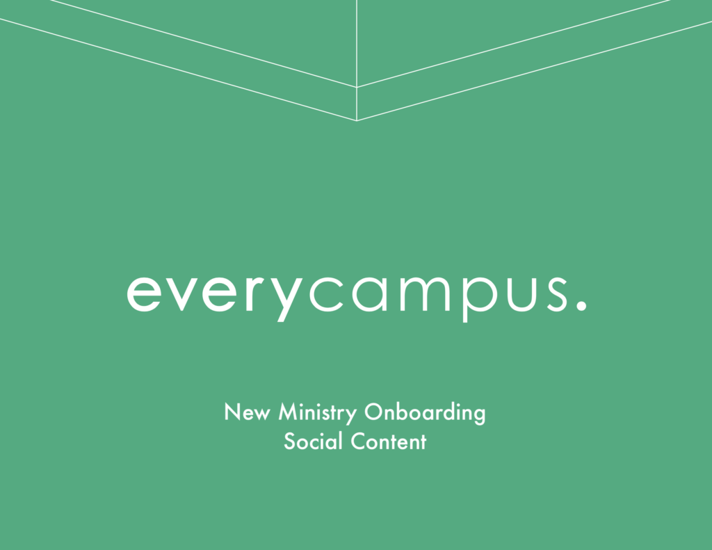 New Ministry Onboarding Social Content